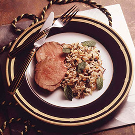 Beef Tenderloin Medallions with Rice Pilaf
